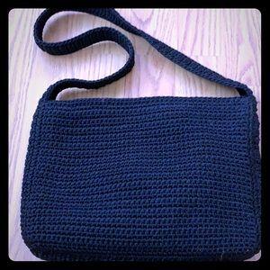 The sak little black knitted bag